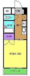 名鉄豊田線 黒笹駅 徒歩5分の賃貸マンション 1階1Kの間取り
