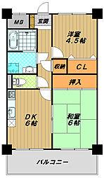 KOBE兵庫壱番館[2階]の間取り