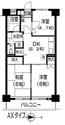 きんえいマンション[5階]の間取り