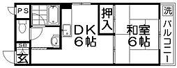 プレアール寝屋川緑町[2階]の間取り