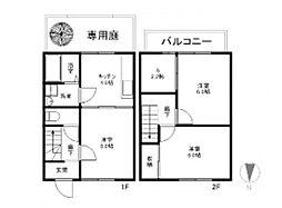 [タウンハウス] 岡山県倉敷市西岡 の賃貸【/】の間取り