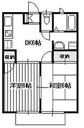オークハウス山田[201号室]の間取り