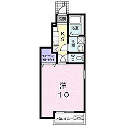 神奈川県小田原市成田の賃貸アパートの間取り