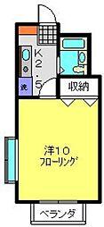 神奈川県横浜市保土ケ谷区月見台の賃貸アパートの間取り