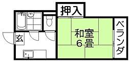 クレジール牧野 B棟[2階]の間取り