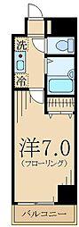 ガラ・ステージ国分寺 5階1Kの間取り