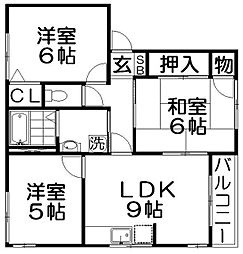 吉村ハイツA棟[1階]の間取り
