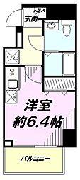JR中央線 豊田駅 徒歩2分の賃貸マンション 3階ワンルームの間取り