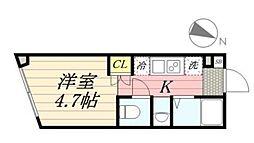 PASEO代田橋 3階1Kの間取り
