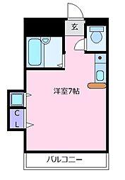 大阪府松原市上田5の賃貸マンションの間取り