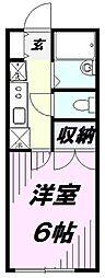 セジュール松本[2階]の間取り