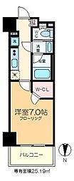 ザ・パークハビオ木場 15階1Kの間取り
