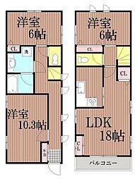 [一戸建] 東京都大田区南馬込2丁目 の賃貸【/】の間取り