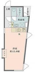 Solana Takanawadai 3階ワンルームの間取り