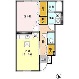 ソラーナ三番館[1階]の間取り