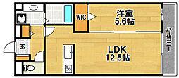 Osaka Metro今里筋線 だいどう豊里駅 徒歩4分の賃貸アパート 3階1LDKの間取り