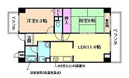 カサグランデ甚田[5階]の間取り