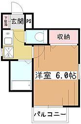 コンフォートベルハウスA[2階]の間取り