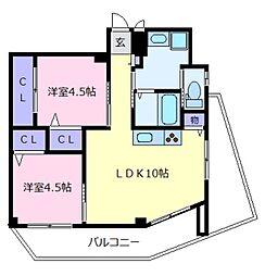 ドマーニ[4階]の間取り