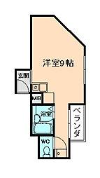 サンフラットII[4階]の間取り