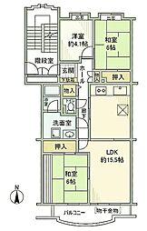 東京都八王子市南大沢4丁目の賃貸マンションの間取り