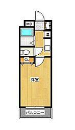 メゾン箱崎I(旧プロシード箱崎宮)[102号室]の間取り