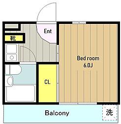 神奈川県大和市代官4丁目の賃貸マンションの間取り