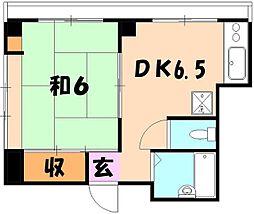 パークハイツヤマガタ[301号室]の間取り