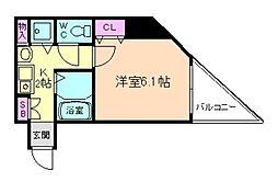 センティ天満橋[4階]の間取り
