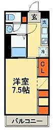 JR鹿児島本線 吉塚駅 徒歩9分の賃貸マンション 1階1Kの間取り