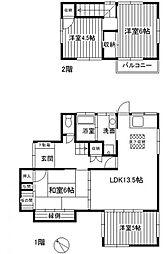 [一戸建] 福岡県大野城市南ケ丘2丁目 の賃貸【/】の間取り