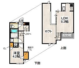 CB箱崎ルアーナ[102-0号室]の間取り