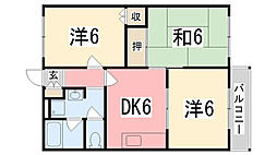 兵庫県高砂市伊保2丁目の賃貸アパートの間取り