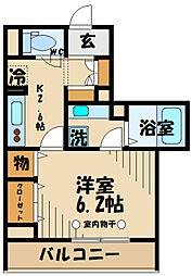 京王線 府中駅 徒歩4分の賃貸アパート 3階1Kの間取り