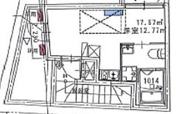 西武新宿線 野方駅 徒歩2分の賃貸マンション 5階ワンルームの間取り
