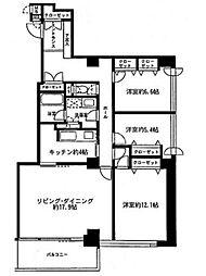 東京都港区港南4丁目の賃貸マンションの間取り