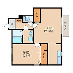 スタジョナーレ[1階]の間取り