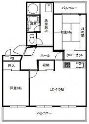 日商岩井弥生マンション[3階]の間取り