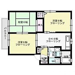 エスポワール旬A棟[1階]の間取り