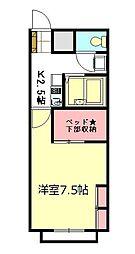 東武東上線 朝霞駅 徒歩15分の賃貸アパート 1階1Kの間取り