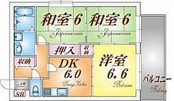 ウエストコート須磨浦[2階]の間取り