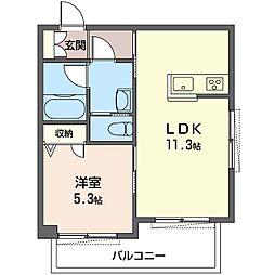 仮)豊島区雑司が谷1丁目シャーメゾン 2階1LDKの間取り