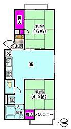 アパートメント西糀谷[201号室]の間取り