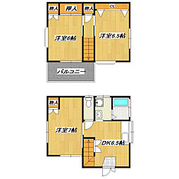 [一戸建] 東京都葛飾区西新小岩4丁目 の賃貸【/】の間取り