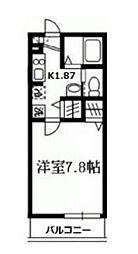 神奈川県川崎市多摩区中野島1丁目の賃貸アパートの間取り