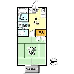ワンズ18A棟[202号室]の間取り