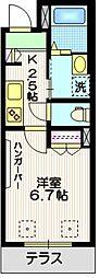 東急世田谷線 世田谷駅 徒歩5分の賃貸マンション 1階1Kの間取り