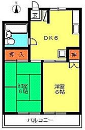 第一ハイツ池田[2階]の間取り