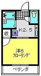 グリーンコーポ斉藤[103号室]の間取り