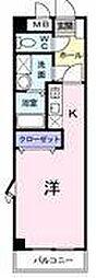 JR東北本線 蓮田駅 徒歩3分の賃貸マンション 1階1Kの間取り